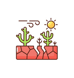 Climate change rgb color icon vector