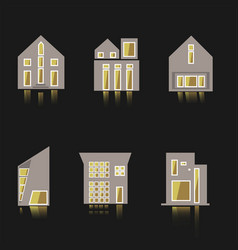 Cool detailed house icon isolated on white vector