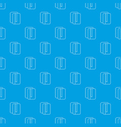 copy book pattern seamless blue vector image