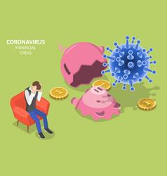 Coronavirus impact on business and personal vector