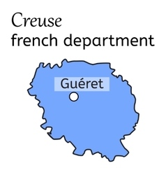 Creuse french department map vector image