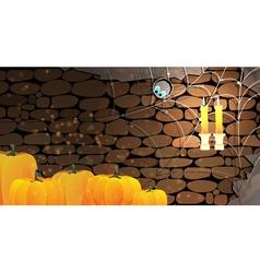 Dark stone dungeon Halloween background vector image