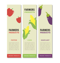 Design template of a vegetable vertical flyers 2 vector