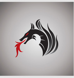 Dragon ideas design on background vector