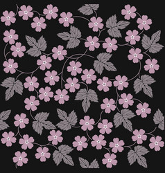 elegant seamless pattern with flowers and leaves vector image vector image