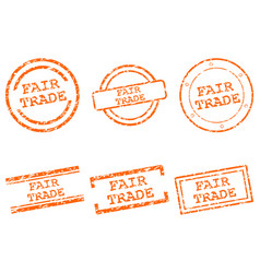 Fair trade stamps vector