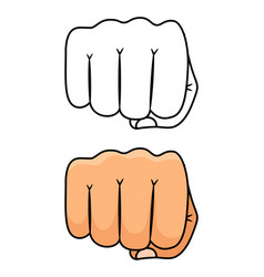 fist punch strong and power vector image
