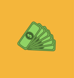 flat icon of money vector image