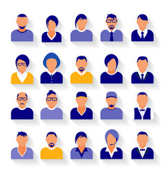 flat modern purple minimal avatar icons business vector image