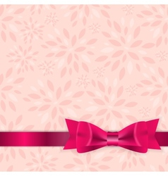 Floral Background with Bow and Ribbon vector