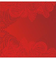 Floral nature pattern card red vector
