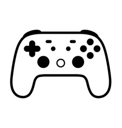 Gaming video game controller line icon vector