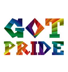 Got pride banner vector