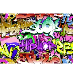 Graffiti wall seamless vector image vector image