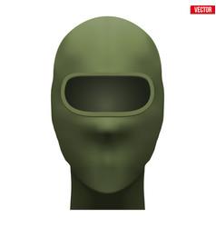 Green balaclava hunter mask vector