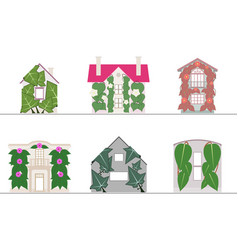 green wall and green facade systems vector image