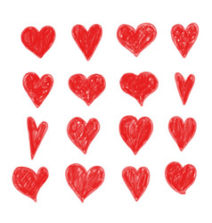 hand draw heart icon vector image