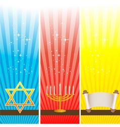 Hanukkah card vector image