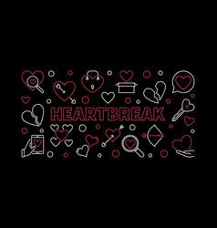 heartbreak horizontal in thin vector image