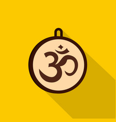 hindu om symbol icon flat style vector image