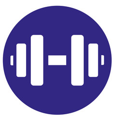 Icon pictograph weight strength dumbbell vector