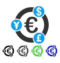 International financial collaboration flat icon vector