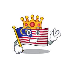 King malaysia mascot flag kept in cupboard vector