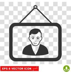Man Portrait EPS Icon vector