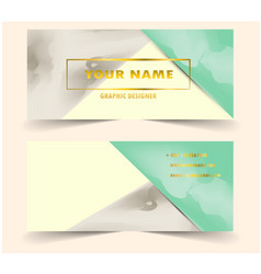 modern business card with triangle water color vector image