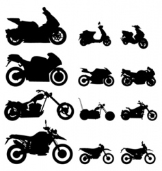 Motorcycle set vector