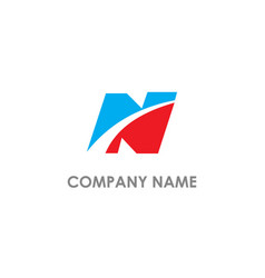 n initial business company logo vector image