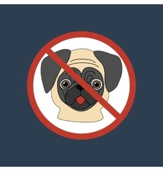 No dog entry icon vector