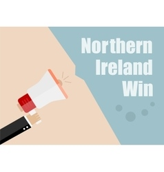 Northern Ireland win Flat design business vector