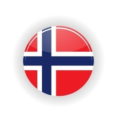 Norway icon circle vector image