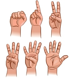 Numbers on the fingers vector