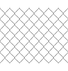 Old steel mesh metal fence seamless structure vector