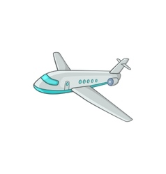 Passenger airliner icon cartoon style vector image