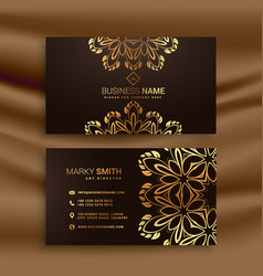 Premium luxury business card design with golden vector