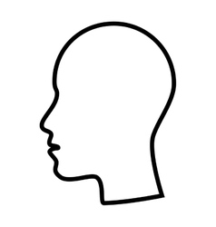 Profile man head side face vector