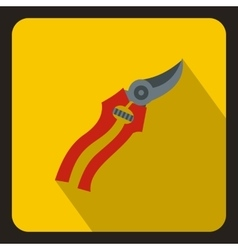 Pruner icon in flat style vector image