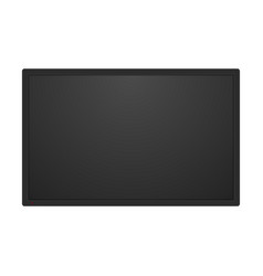 realistic black television screen vector image