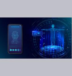 robot biometric identification hud style vector image