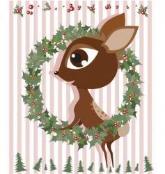 Rudolph reindeer vector
