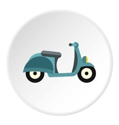 Scooter icon flat style vector