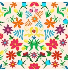seamless floral backgroundcolorful flowers vector image