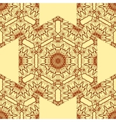 Seamless Print Abstract Symmetrical Doodle vector image