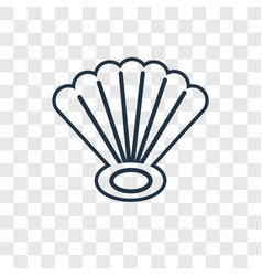 seashell concept linear icon isolated on vector image