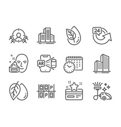 Set business icons such as business targeting vector