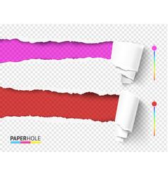 Set empty rip edge banner concepts vector