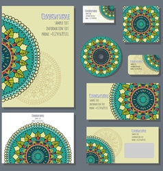 Set of templates for corporate style vector image